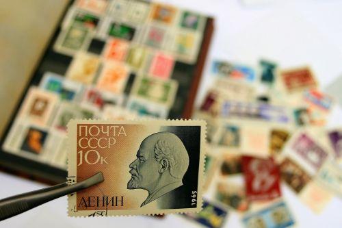 communist lenin postage stamp