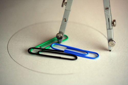 compass paperclip circle