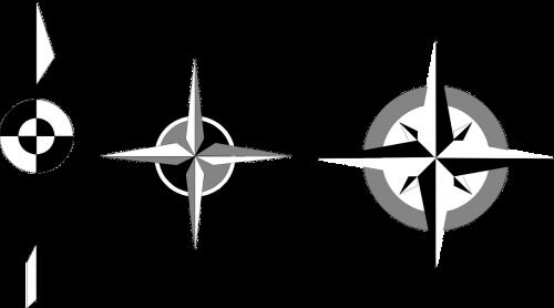 compass direction symbols