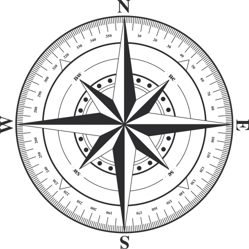 compass windrose west