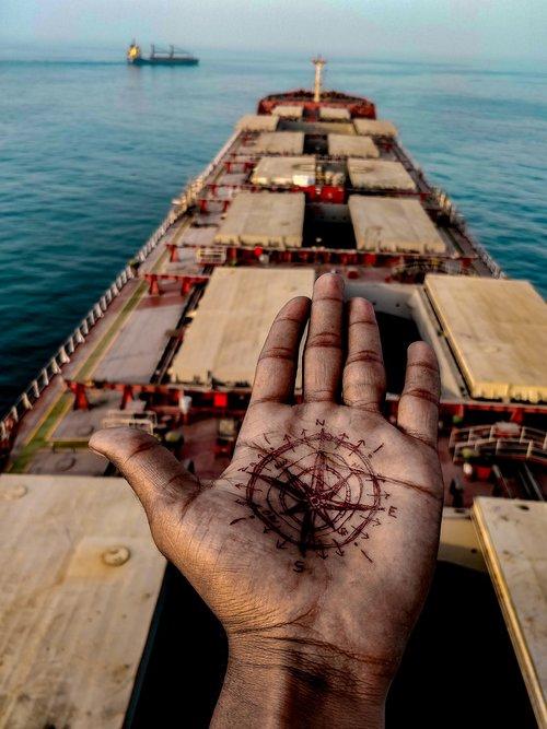 compass  true north  ship