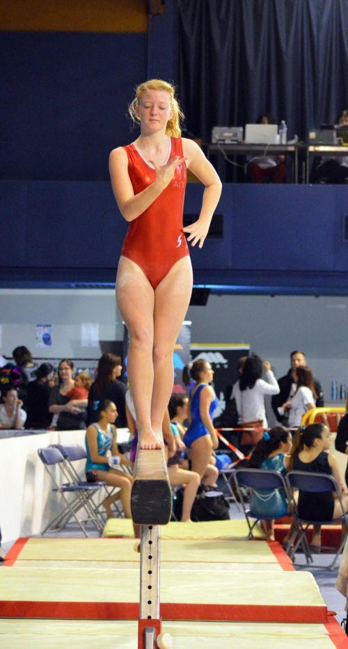 competition gymnastics beam