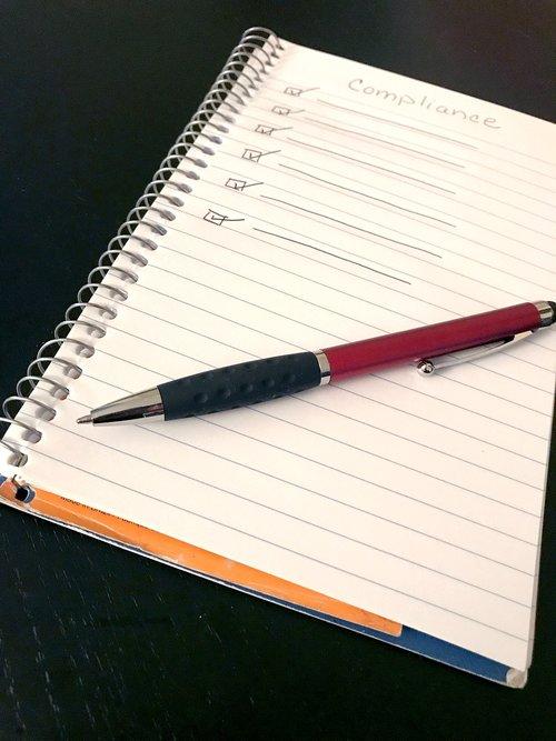 compliance  pen  notepad