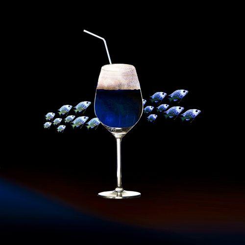 composing drink wine
