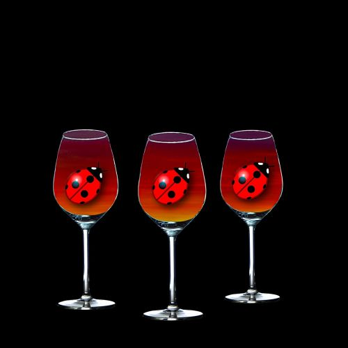 composing wine glass