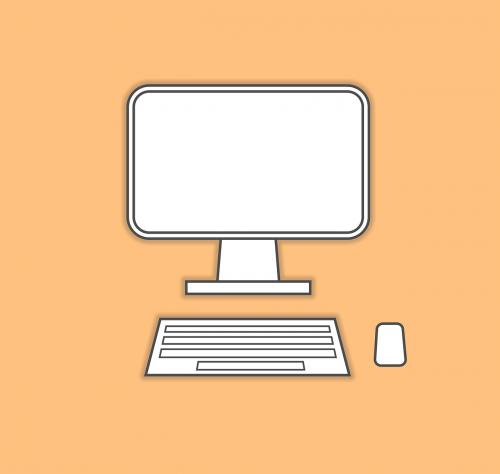 computer monitor keyboard