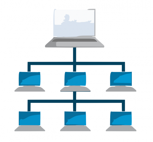 computer network tiered