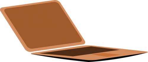 computer laptop brown