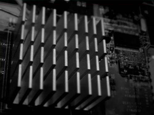 Computer Circuit Board Black/White