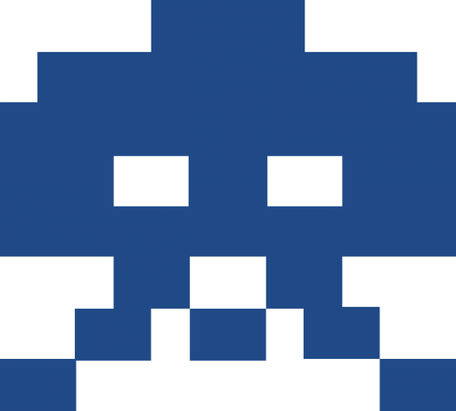 computer game monster pixelated