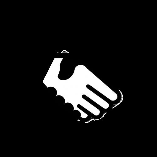 computer icon handshake business