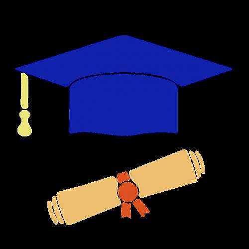 computer icon graduation diploma