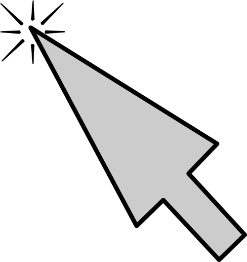 computer mouse pointer arrow