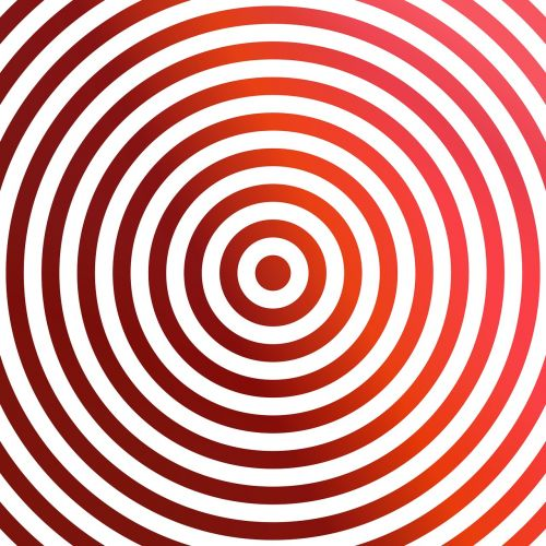 concentric red rings
