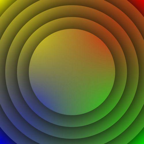 Concentric Gradient Color Discs