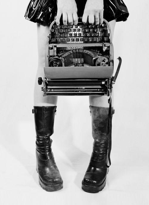 conceptual typewriter goth