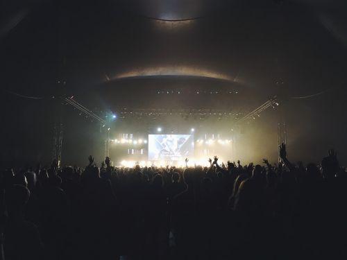 concert crowd dark