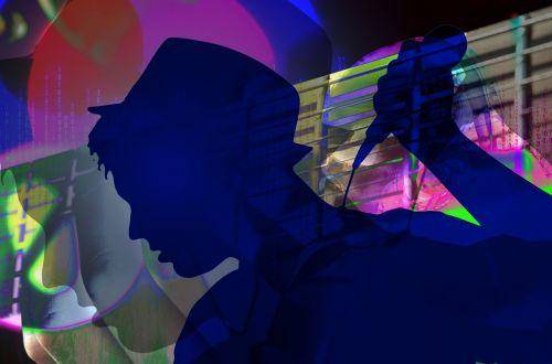concert singer silhouette
