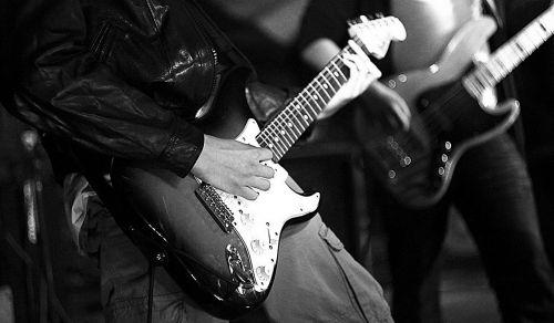 concert guitar scene