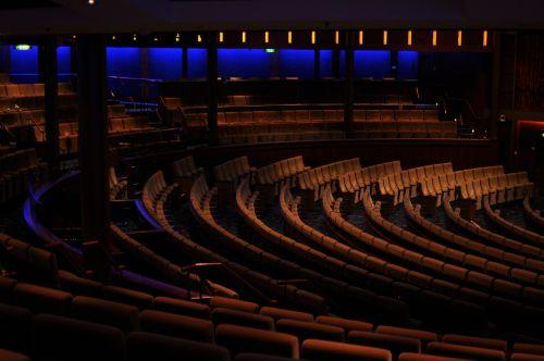 concert hall chairs dark