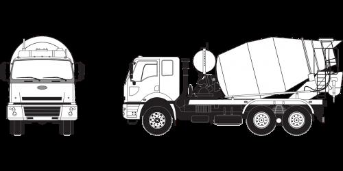 concrete mixer auto ford 69364 w