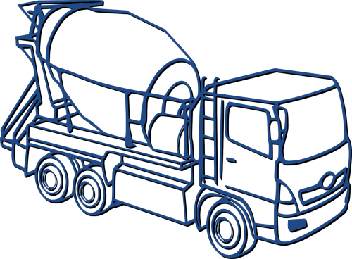 concrete mixer mixer car