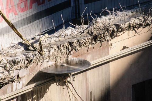 concrete saw reinforced concrete cut