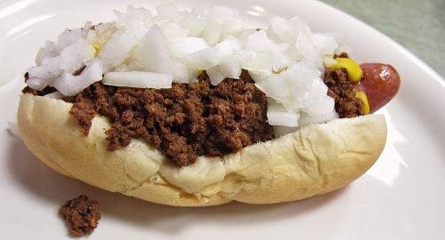 coney island chili dog food