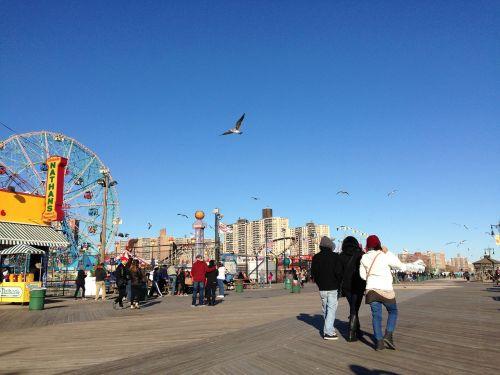 coney island beach park fun