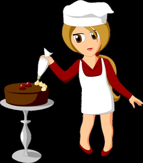 confectioner cake decorate
