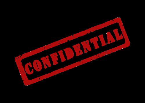 confidential secret private
