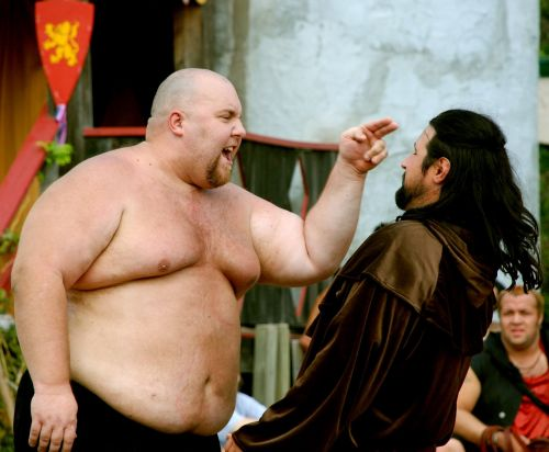 confrontation fat fight