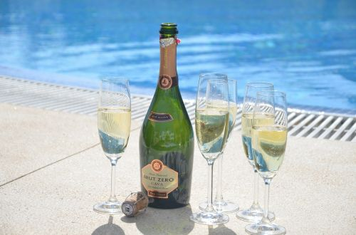 congratulations champagne holiday