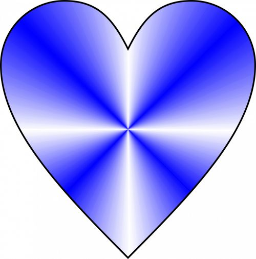 Conical Blue Heart