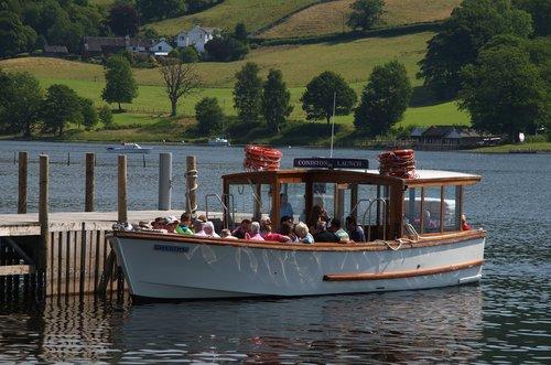 coniston  launch  boat