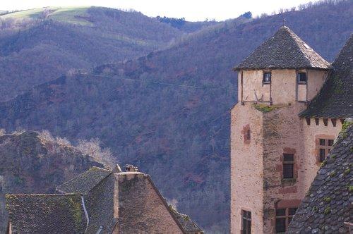 conques  medieval  village