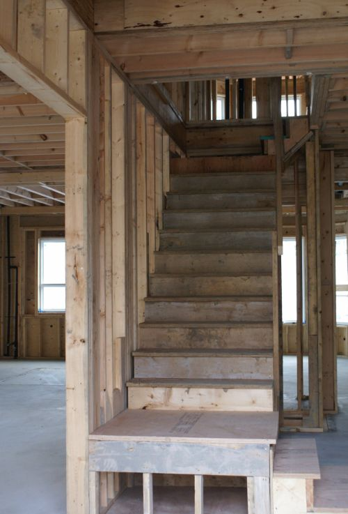 Construction Site Wooden Stairs