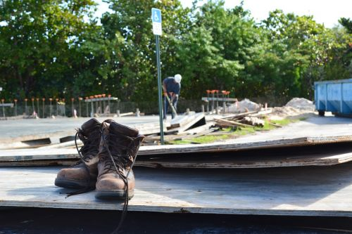 construction job site boots