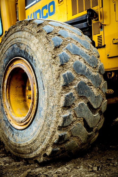 construction heavy equipment wheel