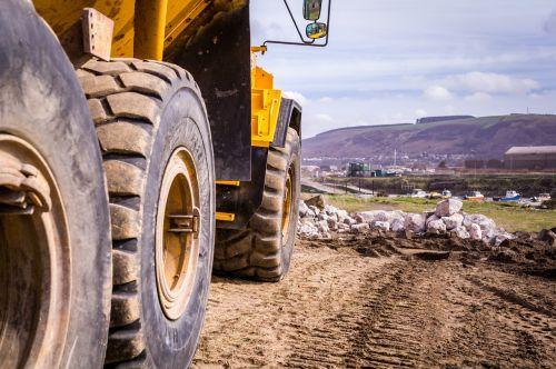 construction dump truck dump