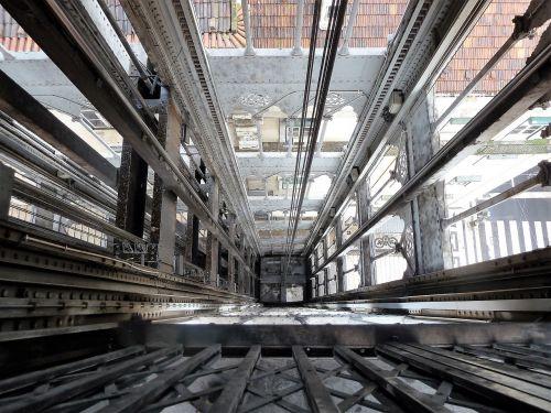 construction cables elevator shaft