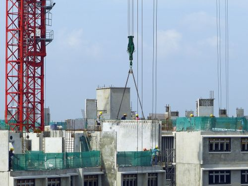 construction site crane
