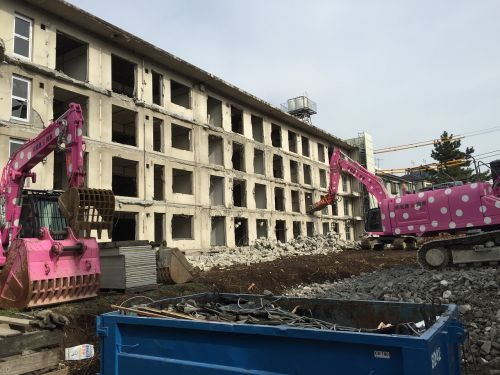 construction apartment destruction