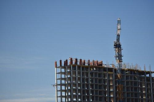 construction  house  crane