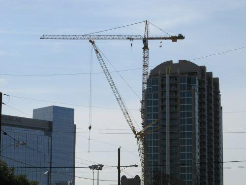 construction crane crane building site