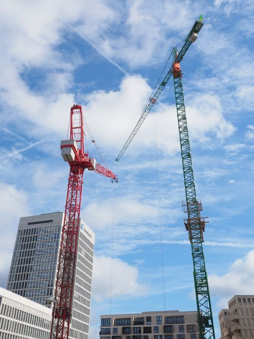 construction cranes site frankfurt