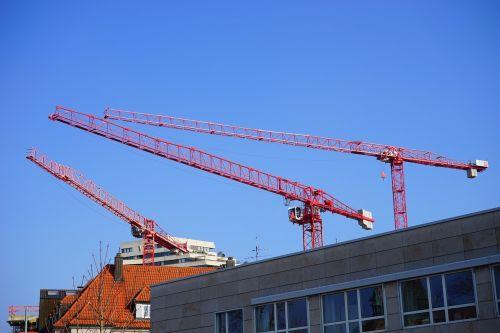 construction cranes cranes site