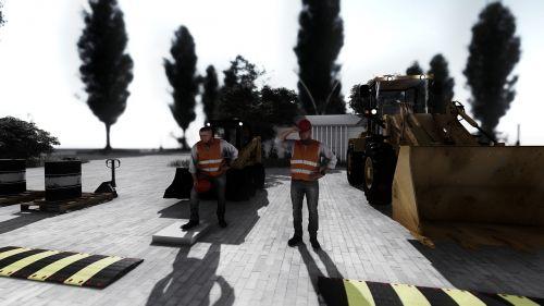 construction machinery excavators site