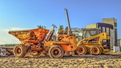 statybvietė,mašinos,transporto priemonės,geltona,įranga,buldozeris,vežėjas,mašinos