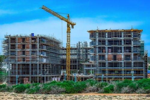construction site  building  building construction